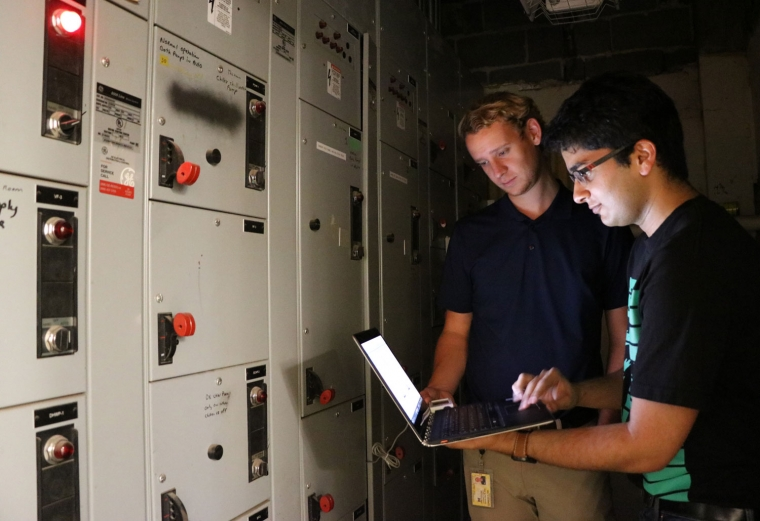 Connor Flynn and Aditya Keskar retrieve HVAC data