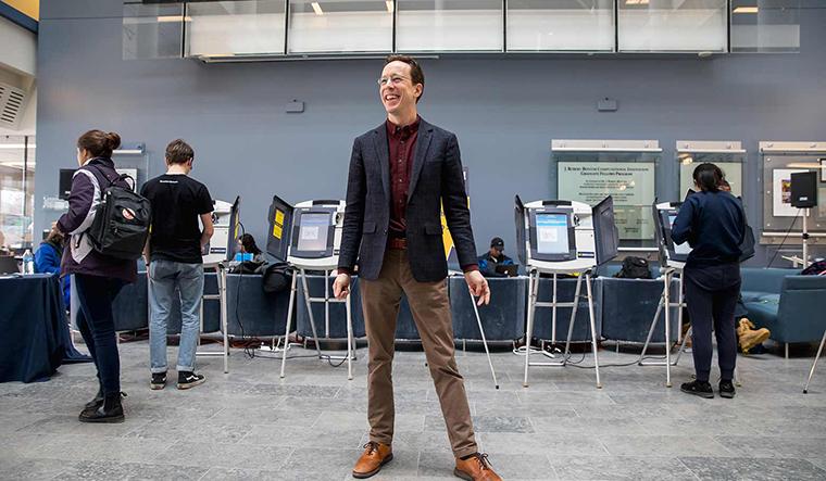 Alex Halderman at mock election