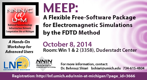 MEEP: A flexible, free-software package for electromagnetic